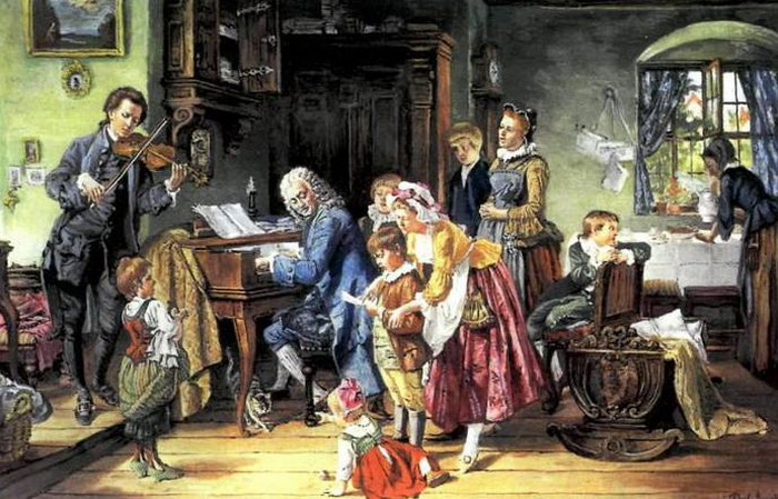 Иоганн Себастьян Бах с семьей. Фото: tumblr.com