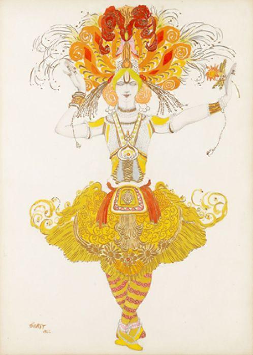 Эскиз костюма жар-птицы к одноименному балету, 1922