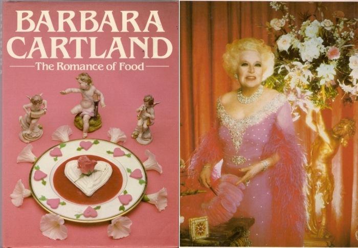 Английская беллетрист Барбара Картленд и ее кулинарная книга *Роман о еде*