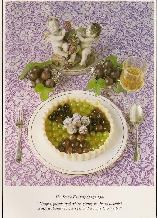 Виноградный десерт с белым вином