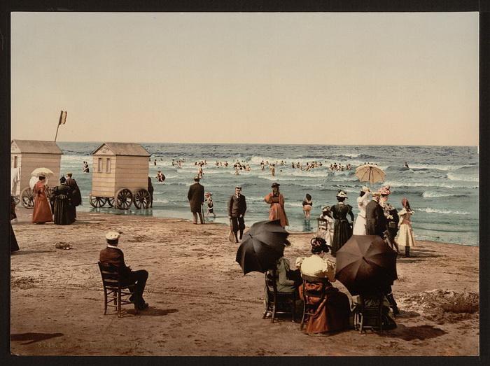 Пляж викторианской эпохи