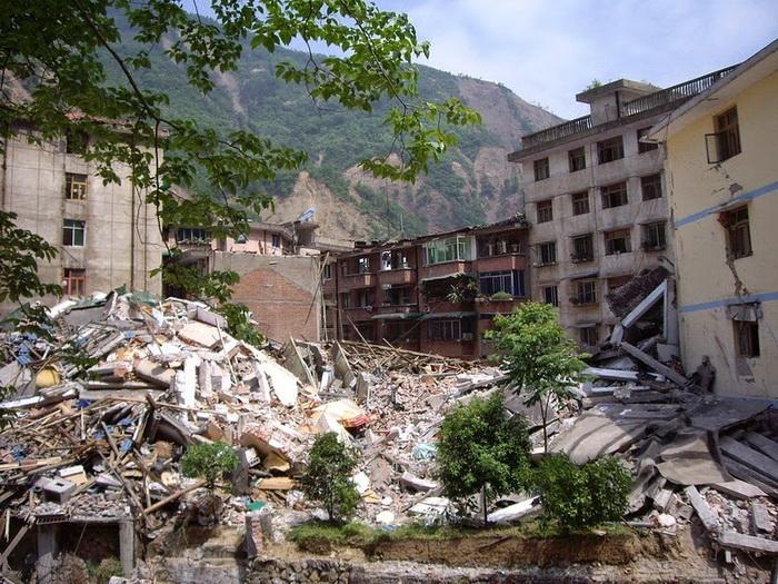 Руины китайского города Бэйчуань