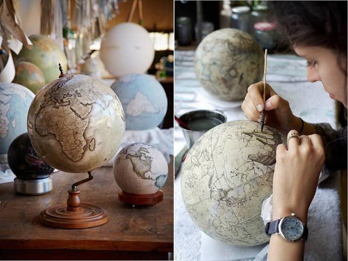 Рисованные глобусы от компании Bellerby & Co. Globemakers