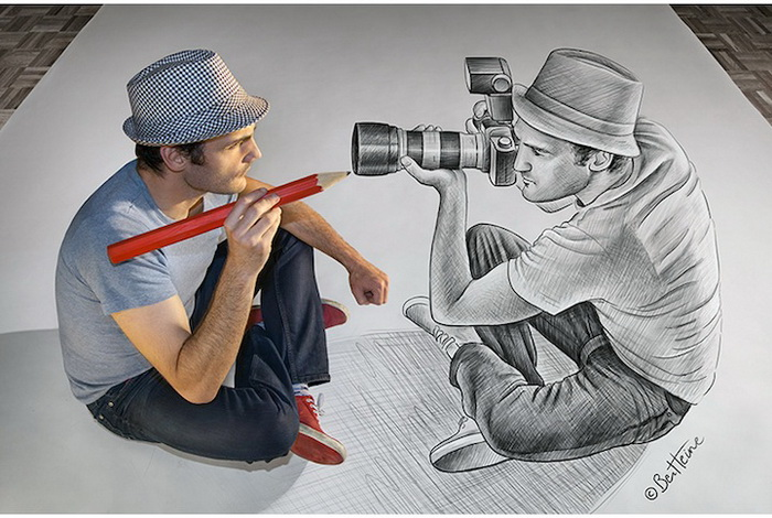 Реалистические 3D-рисунки от Бена Хайне (Ben Heine)