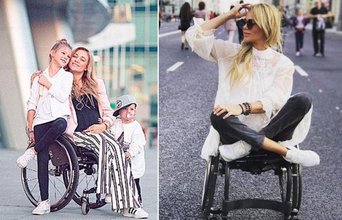 Ксения Безуглова - мать троих детей на коляске.