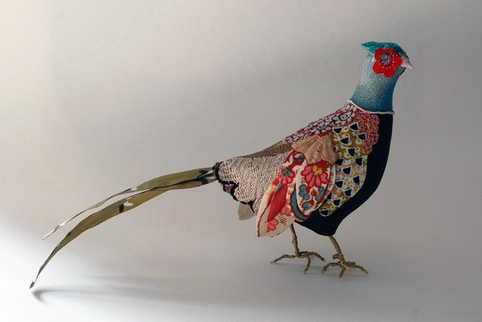 Птицы, выполненные в стиле пэчворк