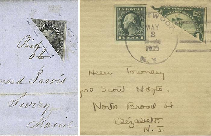 Почему во многих странах на конверты раньше клеили половинки марок.