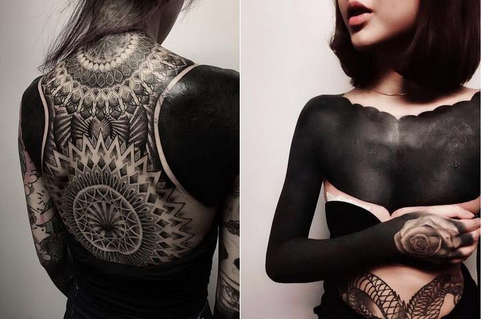 Черные татуировки - новый тренд этой весны