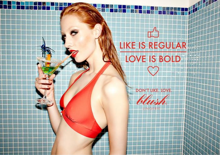 Don`t like. Love: яркая реклама женского нижнего белья Blush
