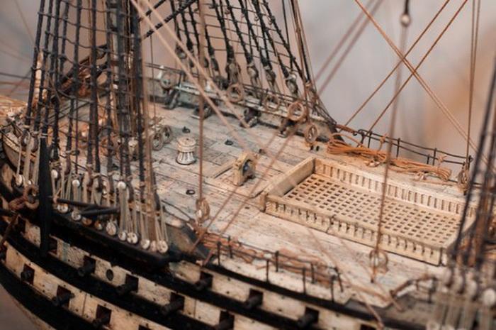 Модели кораблей отличаются удивительной детализацией