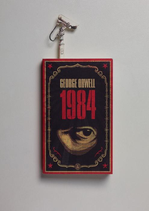 Оригинальная закладка для романа Джорджа Оруэлла *1984*