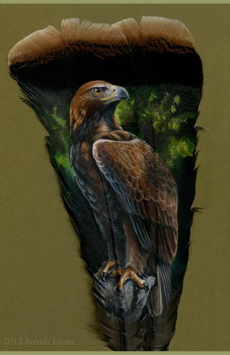 Рисунки на перьях от Бренды Лионс (Brenda Lyons)