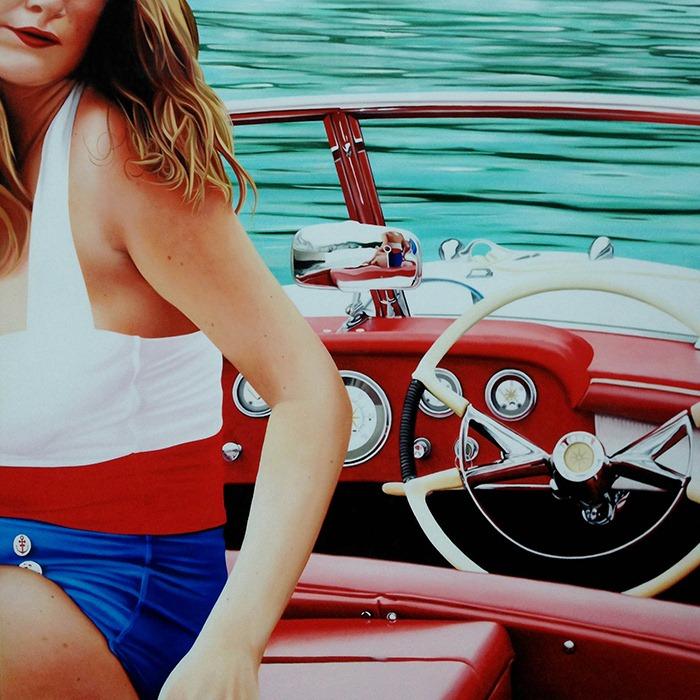 Девушки и машины на фотореалистических картинах Brian Tull