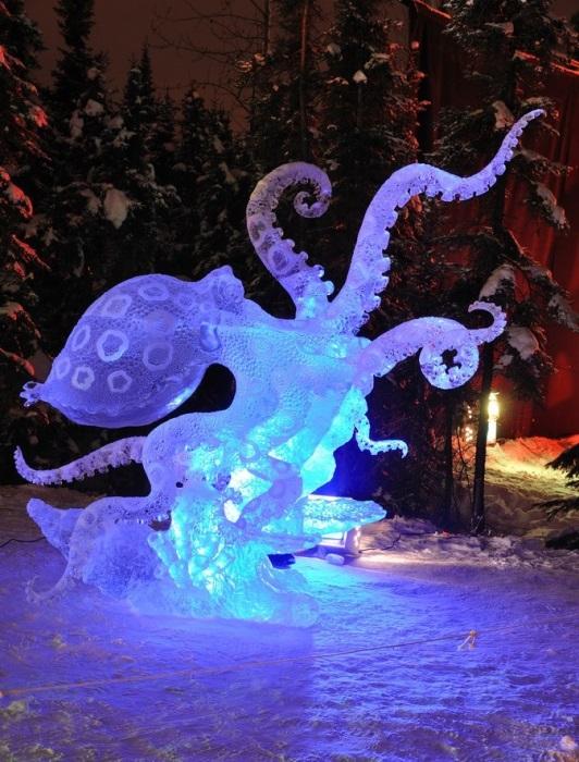 Ледовой творчество мастеров с Аляски