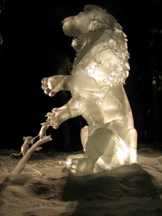 Ледовые скульптуры от Стива и Хизер Брайс (Steve and Heather Brice)