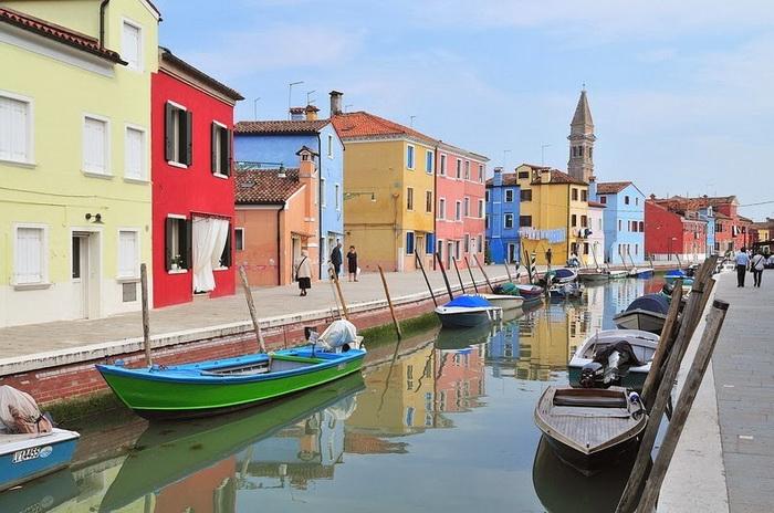 Островной квартал Бурано (Венеция, Италия)