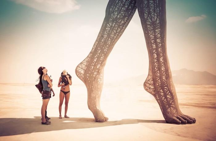 Truth is Beauty - одна из лучших скульптур на фестивале Burning Man