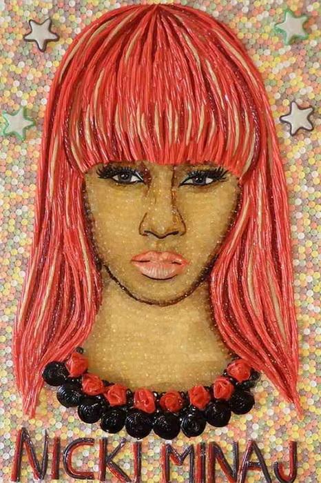 Творчество Кристиана Рамоса: портреты знаменитостей из конфет