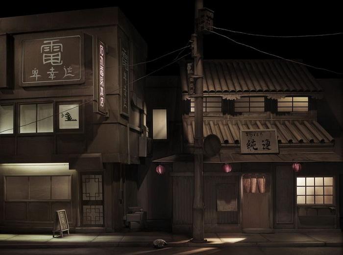 Тихая токийская улочка (фотопроект Энди Рудака)