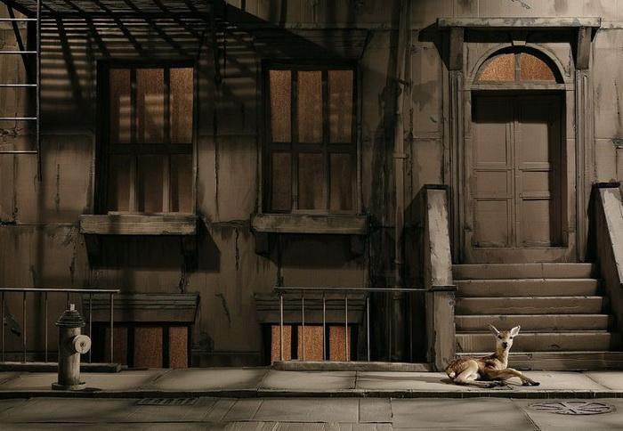 Косуля на улицах Нью-Йорка в фотопроекте Энди Рудака