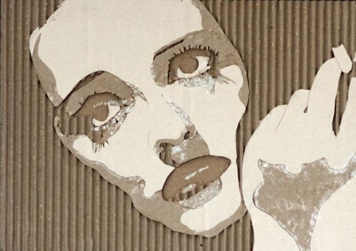 Картины из картона от Giles Oldershaw