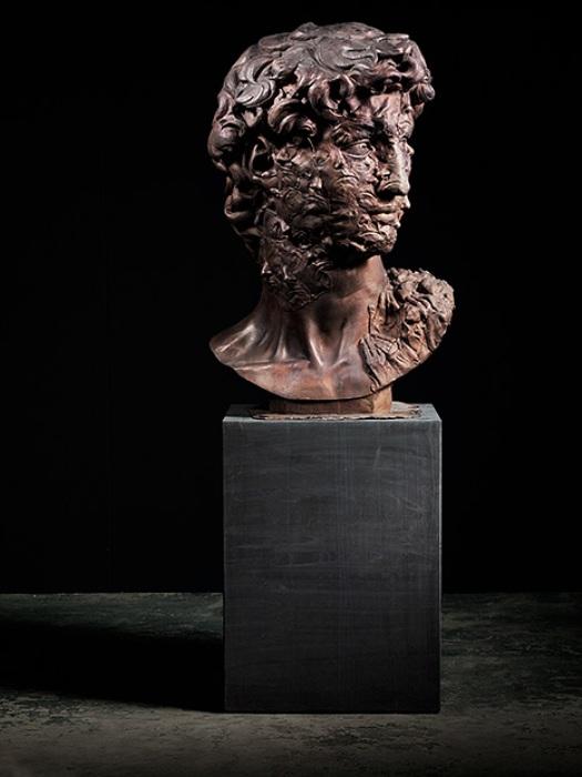 *Давид. Авторпортрет*. Скульптура Каспера Бергера