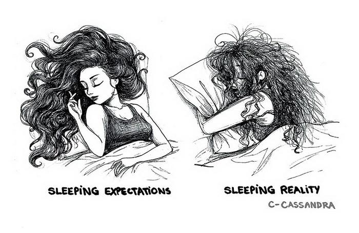 Комиксы о женских ожиданиях и разочарованиях от Кассандра Калин (Cassandra Calin)