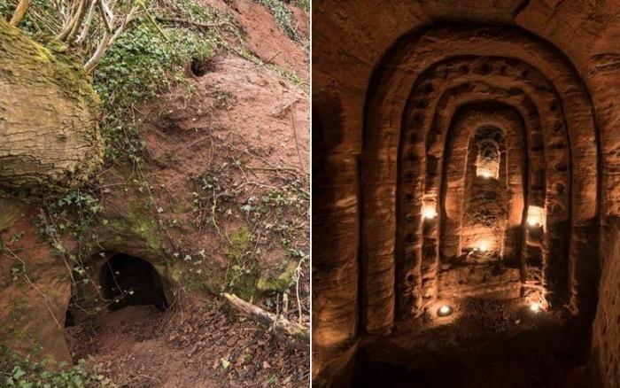 Пещера тамплиеров в Шропшире (Англия)
