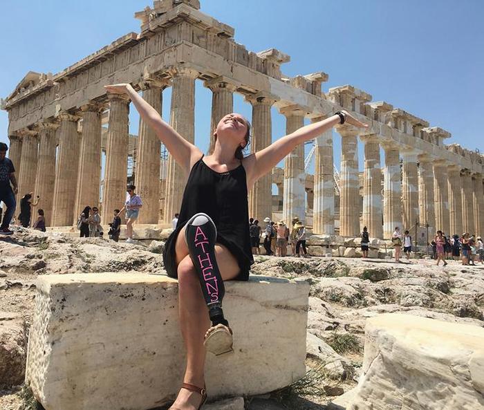 Античные руины в Афинах.