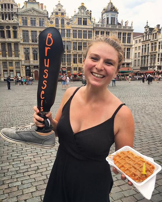 Уличные вафли в Брюсселе.