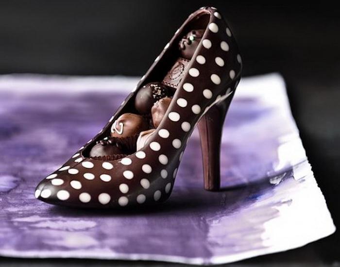 Туфли из шоколада - идеальный подарок ко Дню Святого Валентина