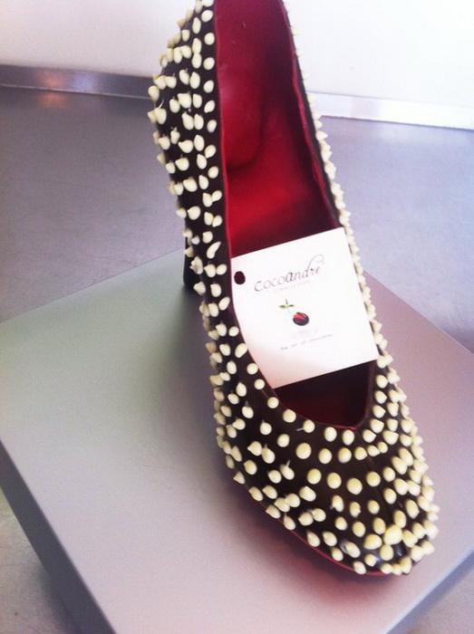 Туфли от Andrea Pedrazza в шоколадной лавке CocoAndre (Даллас)