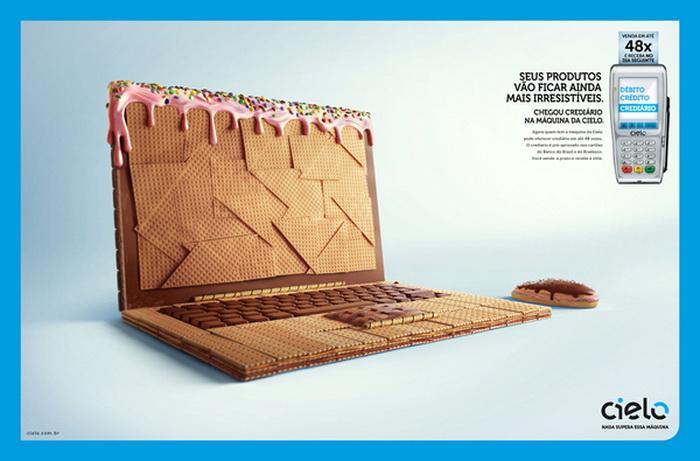 Шоколадная реклама кредитной компании Cielo