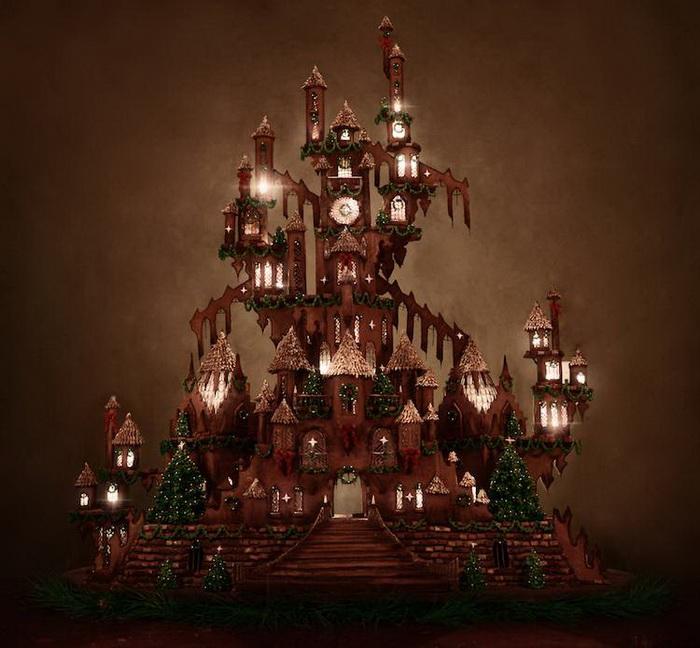 Пряничный замок во всей красе