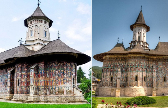 Старинные румынские монастыри, знаменитые своими фресками