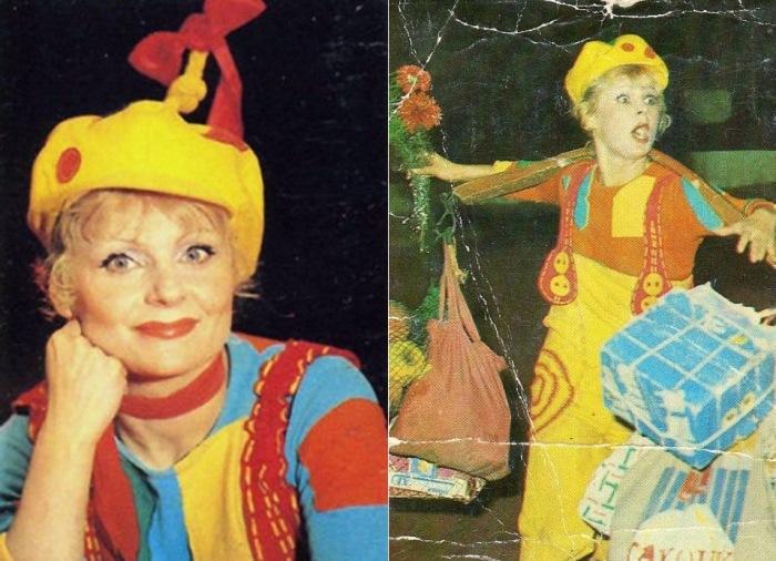 Любимица советской публики - клоунесса Ириска. Фото: liveinternet.ru и thematicnews.com