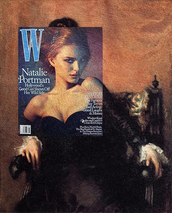 Коллаж картины и обложки журнала от Эйзен Бернардо