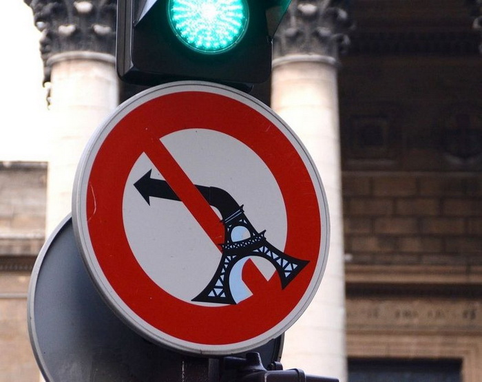 Креативные дорожные знаки от французского художника Клета Авраама