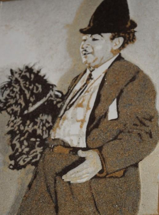 Портреты знаменитостей из кофе и песка. Картины Александра Вальда