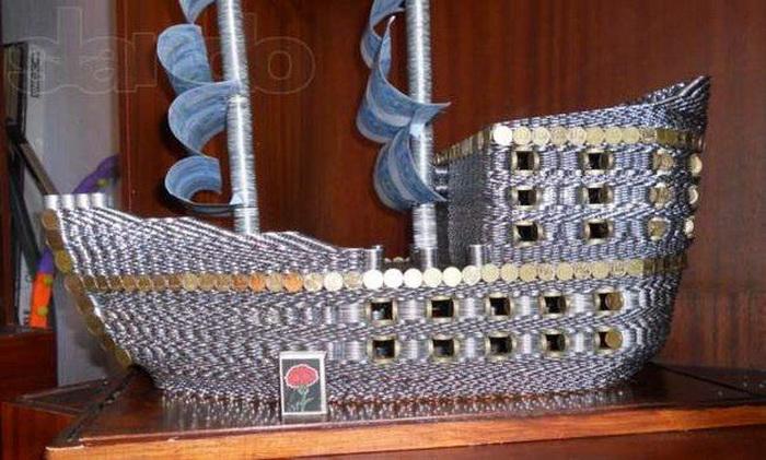 Корабль из монет схема