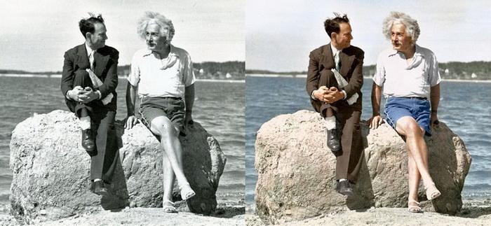 Альберт Эйнштейн на отдыхе (Нью-Йорк, 1939 год)