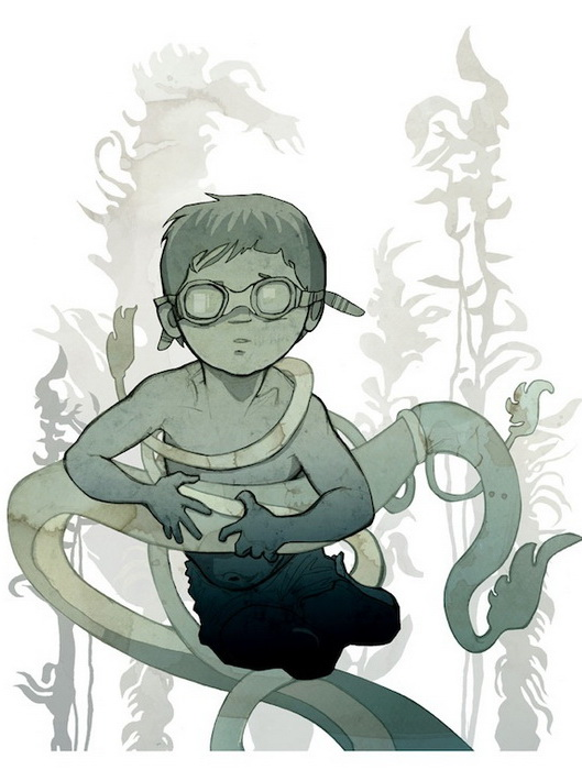 Мир детства на иллюстрациях Колвина Томаса