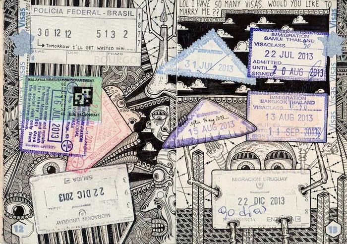 Забавные миниатюры на страницах паспорта