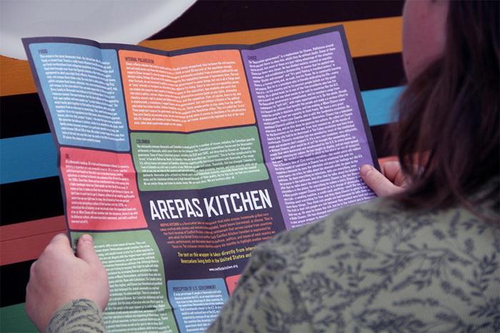 Специальная обертка с информацией о стране, её культуре, пище и традициях