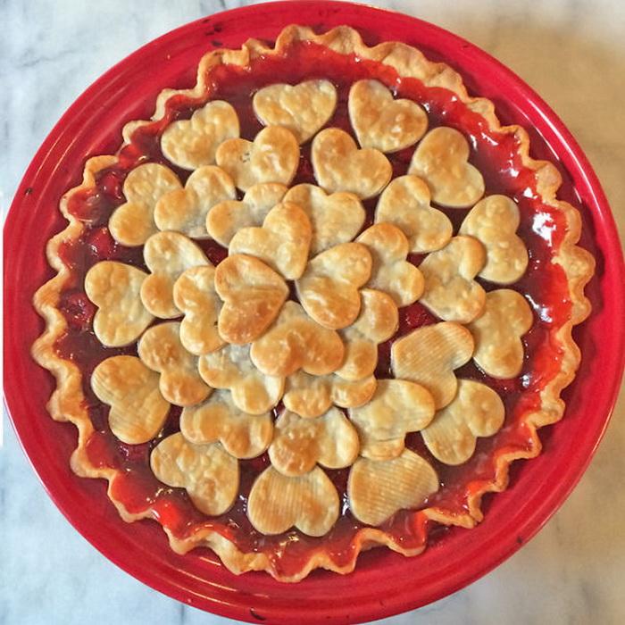 Пирог-валентинка