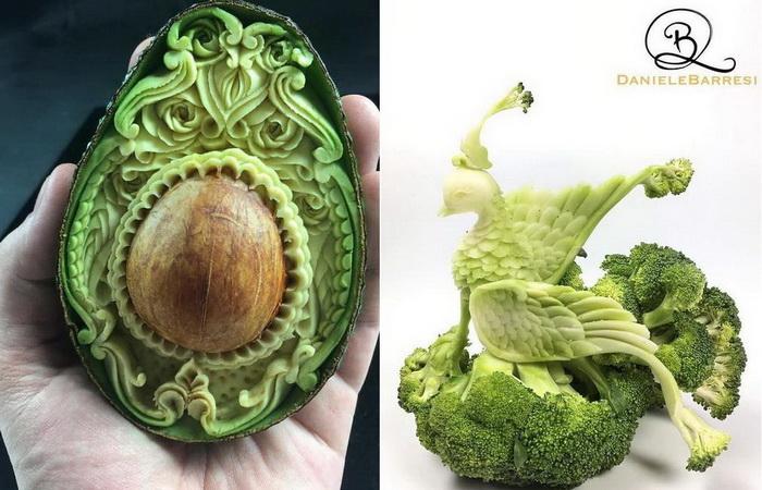Фруктово-овощной карвинг от мастера Даниэля Барреси.