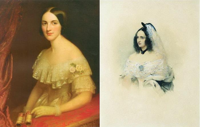 Сестры Екатерина и Наталья Гончаровы