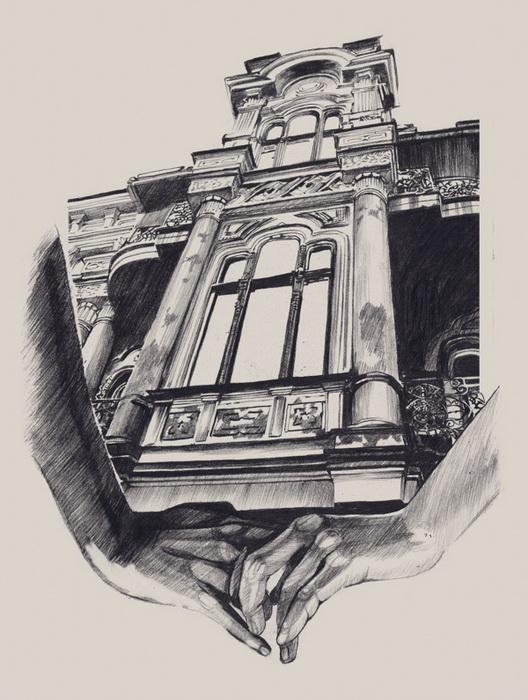 Архитектура Одессы - серия рисунков Даши Плиски