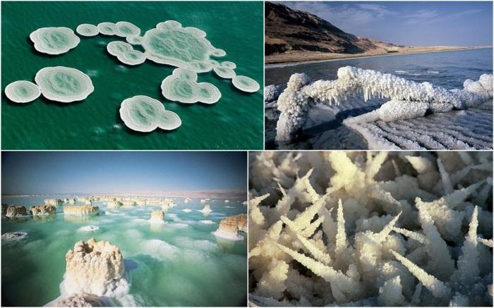 Соляные отложения в Мертвом море