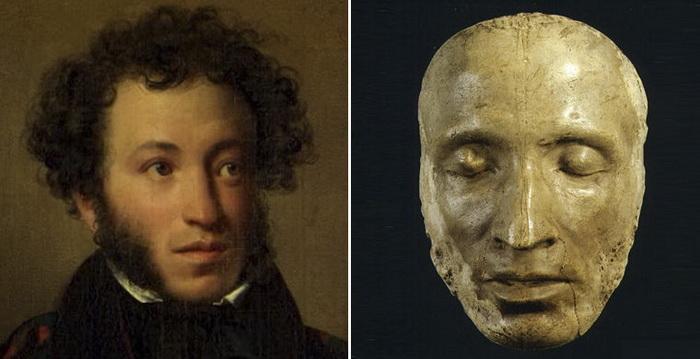 Посмертная маска Александра Пушкина